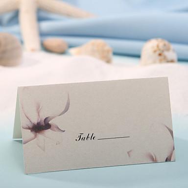 Tischkarten und Halterungen Tischkarte - Frühlingsblume (Satz 12)