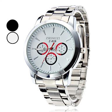 Erkek Bilek Saati Büyük indirim Alaşım Bant İhtişam / Elbise Saat Gümüş