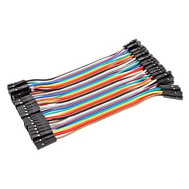 Dupont tel kadın - dişi kablo hattı 40p-40p test hatları konnektörü (10cm)