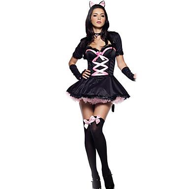 Üniformalar Cosplay Kostümleri Kadın's Yılbaşı Cadılar Bayramı Karnaval Yeni Yıl Festival / Tatil Cadılar Bayramı Kostümleri Pembe/Siyah