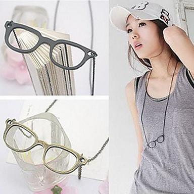 Women's Simple Glasses Vintage Necklace
