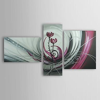 käsin maalattu kukka öljymaalaus venytetty runko - 3 kpl