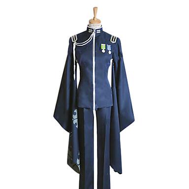 Inspireret af Vokaloid Kaito video Spil Cosplay Kostumer Cosplay Kostumer Kimono Patchwork Langærmet Frakke Bukser Handsker Hat Emblem