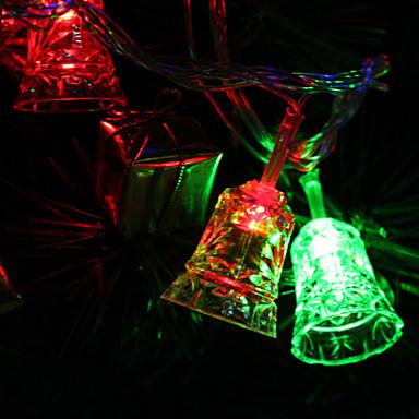 Lumina colorat 7m 30-LED clinchetul-în formă de clopot a condus lampă benzi zână pentru decorarea festival (220V)