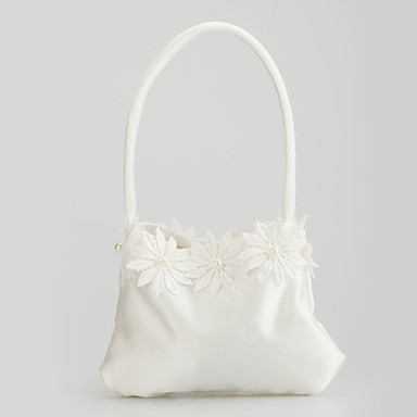 Pretty Satin with Flowers Wedding Bridal Purse(More Colors)