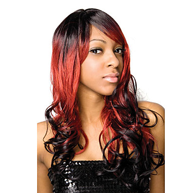 Lace Front Capless Long Red Curly High Quality Synthetic Japanese Kanekalon Wig