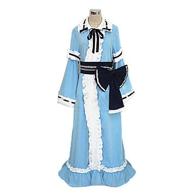 Inspiriert von Touhou Projekt Yuyuko Saigyouji Video Spiel Cosplay Kostüme Cosplay Kostüme Kimonoo Patchwork Langarm Krawatte Kleid