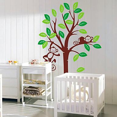 Dětský pokoj opice samolepky strom zeď