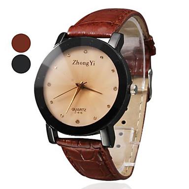 Pentru femei Ceas de Mână cald Vânzare PU Bandă Charm / Modă / Ceas Elegant Negru / Maro