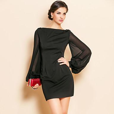 TS Jersey kjole med vide ermer