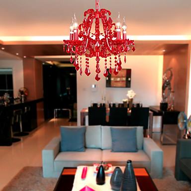 SL® Candle-stijl Kroonluchters Toortswandlamp - Kristal, 110-120V / 220-240V LampNiet Inbegrepen / 40-50㎡ / E12 / E14