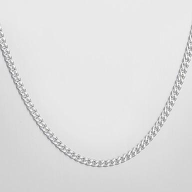 Mode smykker Simply Halskæde Sølv Plate 2MM Curb Chain