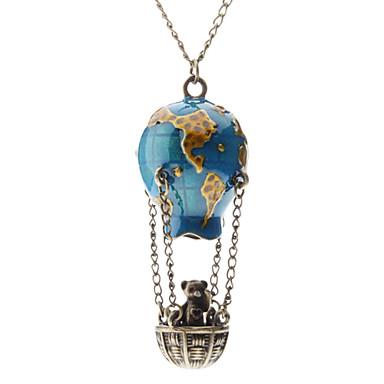 Damen Anhängerketten - Heißluftballon Modisch Blau Modische Halsketten Für Alltag
