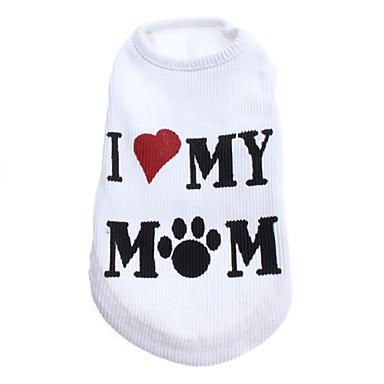 Köpek Tişört Köpek Giyimi Harf & Sayı Beyaz Terylene Kostüm Evcil hayvanlar için