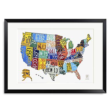 Palavras impressas Arte & Quotes matrícula mapa dos EUA 1301-0242