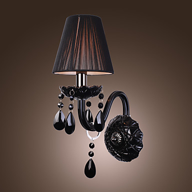 VERNON - Muurlamp van Kristal met Stoffen Lampenkap