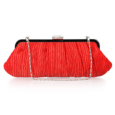 Charming Satin with Crystal Evening Handbag/Clutches(More Colors)