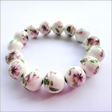 Vintage Flower Keramisk Bracelet (Diameter: 12cm)