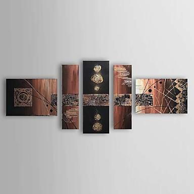 Ručně malované Abstraktní Pět panelů Plátno Hang-malované olejomalba For Home dekorace