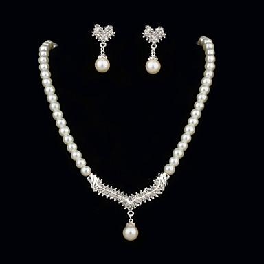 Pentru femei Ștras Perle Petrecere Aniversare Zi de Naștere Logodnă Cadou Σκουλαρίκια Coliere Costum de bijuterii