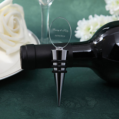 Non-personalized Stainless Steel Glass Bottle Stoppers Bottle Favor Classic Theme Bottle Favor