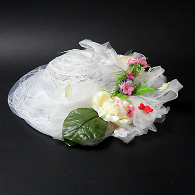 Mooie satijn / kant met bloem / Koe Wikke bruiloft / feesten / huwelijksreis hoed