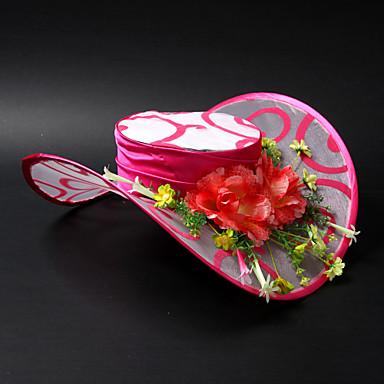 Charmerende Satin / Lace / legering med Flower Wedding / feste / Bryllupsrejse Hat