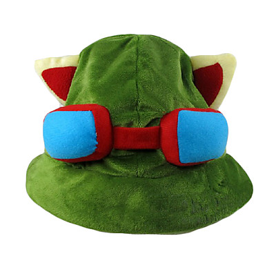 Hat/Cap Inspired by LOL Teemo Anime/ Video Games Cosplay Accessories Hat Cap Polar Fleece Male