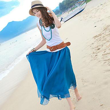 Donna Bohemian Beach Maxi Skirt