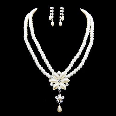 Šperky Set Dámské Výročí / Svatba / Zásnuby / Narozeniny / Dárek / Párty / Zvláštní příležitost Sady šperkůImitace perly / imitace