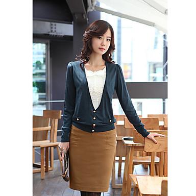 Vrouwen Tweed Slim Skirt (Belt is niet inbegrepen)