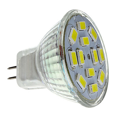 2 W 250-300 lm GU4(MR11) Spoturi LED MR11 12 LED-uri de margele SMD 5730 Alb Natural 12 V