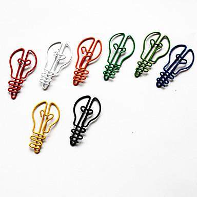 lamppu tyyli värikäs paperiliittimet (random väri, 10-pack)