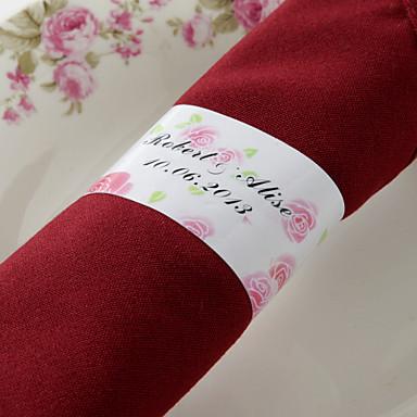 abordables Serviettes de Mariage-Serviettes de mariage - 50pcs Ronds de serviettes Mariage Anniversaire Soirée de Fiançailles Enterrement de Vie de Jeune Fille Bonbon
