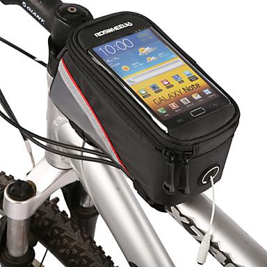 ROSWHEEL Kännykkäkotelo / Pyörän 4.2 inch Kosketusnäyttö Pyöräily varten Samsung Galaxy S6 / LG G3 / Samsung Galaxy S4 Musta / iPhone 8/7/6S/6 / iPhone 8 Plus / 7 Plus / 6S Plus / 6 Plus