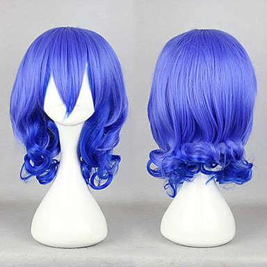 Cosplay Wigs Karneval Cosplay Blue Medium Anime Cosplay Wigs 45 CM Male / Female