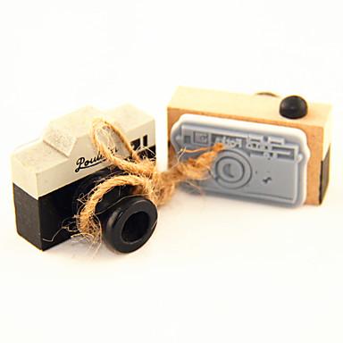 vinobraní kamera vzor dřevo razítko (náhodné barvy)