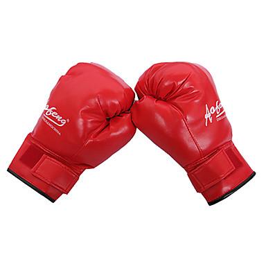 Boxsackhandschuhe / Boxhandschuhe für das Training / MMA-Boxhandschuhe Für Taekwondo, Boxen, Karate, Kampfkunst Vollfinger Einstellbar, Atmungsaktiv, Wasserdicht PU Herrn / Damen - Schwarz / Rot