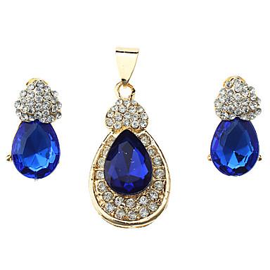Dámské Sady šperků Luxus Módní Svatební Párty Zvláštní příležitosti Výročí Narozeniny Dar Umělé diamanty Slitina Kapka Küpeler Náhrdelníky