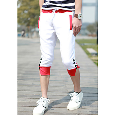 Men's Buckle Tether Cropped Sports Pants