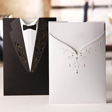 Șal & Buzunar Invitatii de nunta Invitații Stil Clasic Hârtie cărți de masă 7 1/5
