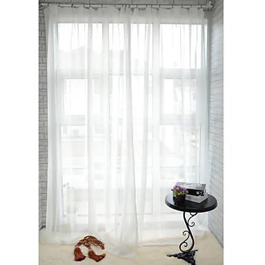 Dva panely Window Léčba Moderní , Jednolitý Jídelna Polyester Materiál Sheer Záclony Shades Home dekorace For Okno