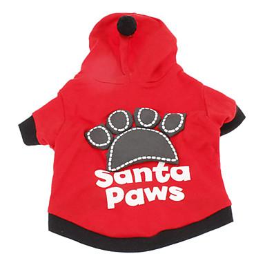 Câine Hanorace cu Glugă Îmbrăcăminte Câini Literă & Număr Negru Rosu Bumbac Costume Pentru animale de companie