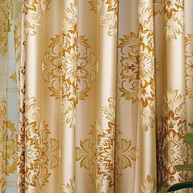 To paneler Vindue Behandling Europæisk Neoklassisk Soveværelse Polyester Materiale Gardiner forhæng Hjem Dekoration For Vindue