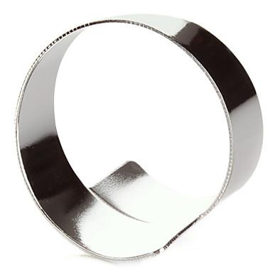 Set de 4 Modern Silver aliaj de zinc șervețele inel