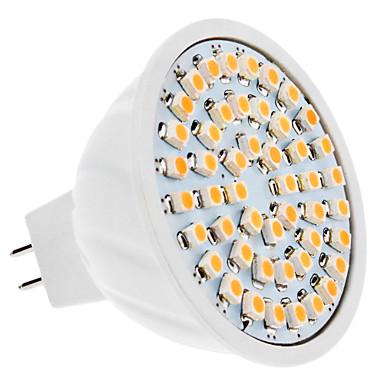 2w 150-200 lm gu5.3 (mr16) lumina reflectoarelor mr16 48 smd 3528 230 lm alb cald dc 12 v