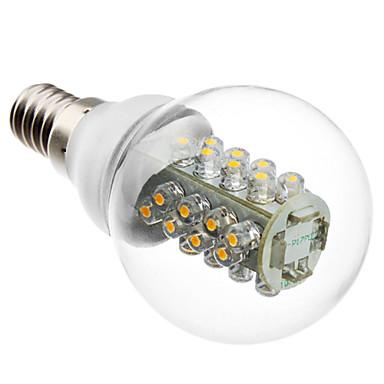 E14 LED-globepærer G60 32 leds SMD 5050 Varm hvid 2800lm 2800KK Vekselstrøm 220-240V