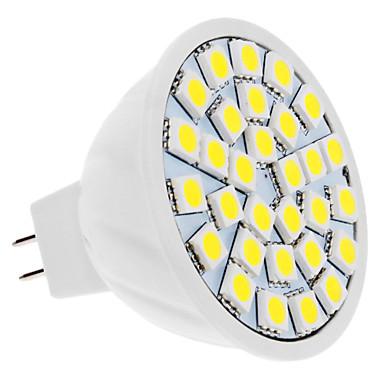 4W 420lm GU5.3(MR16) LED Spot Işıkları MR16 30 LED Boncuklar SMD 5050 Doğal Beyaz 12V