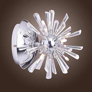 kristall vägglampa med 6 lampor