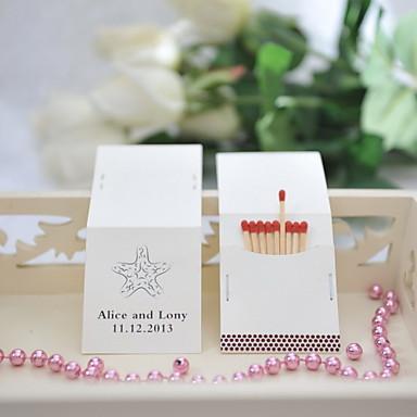 Yksilöllinen tulitikkulaatikko Materiaali / Kova kartonki Wedding Kunniamerkit Häät / Party Hiekkaranta-teema / Wedding Kevät / Kesä / Syksy